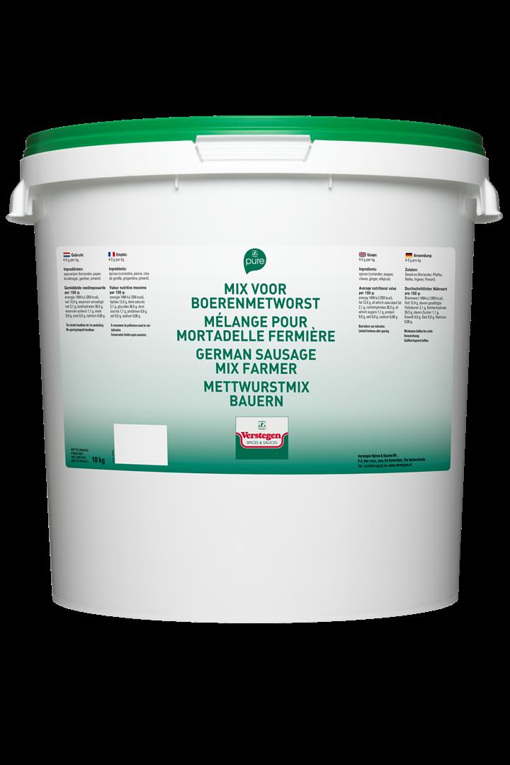 Productafbeelding Verstegen  mix voor boerenmetworst 10 KG emmer