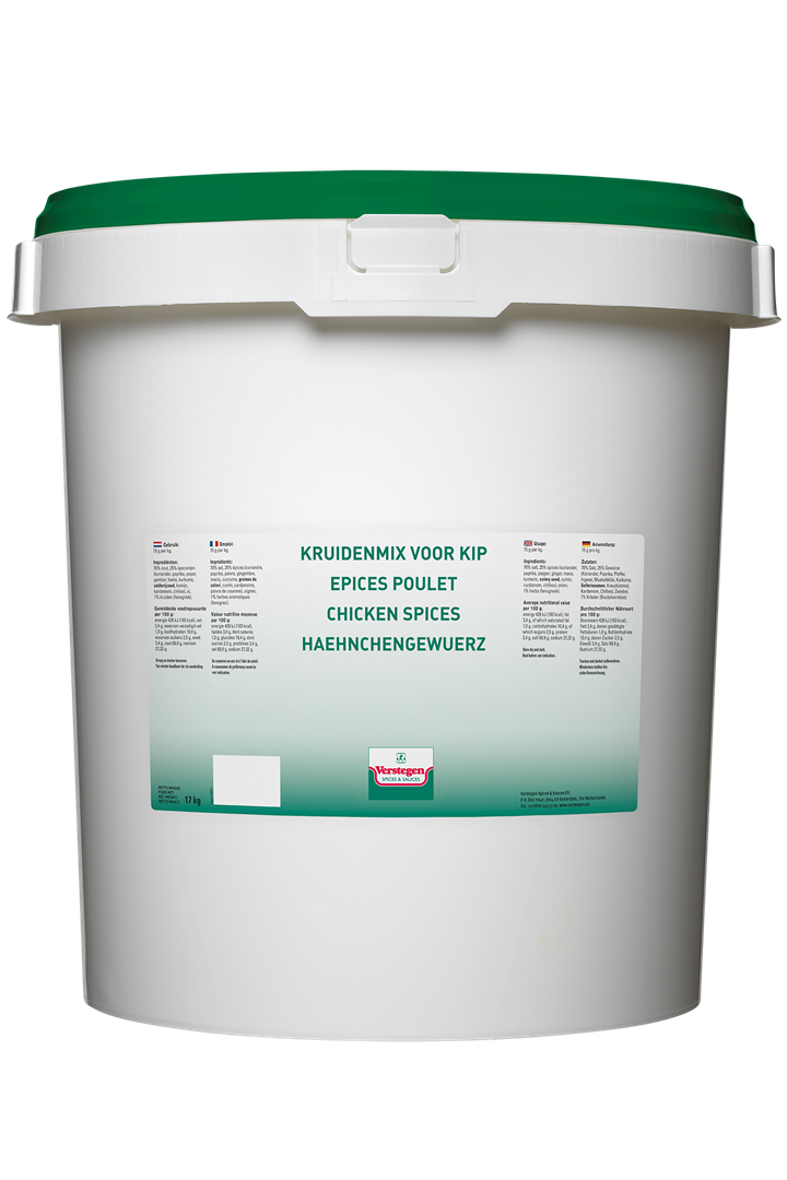 Productafbeelding Verstegen  kruidenmix voor  kip met zout 17000 g emmer