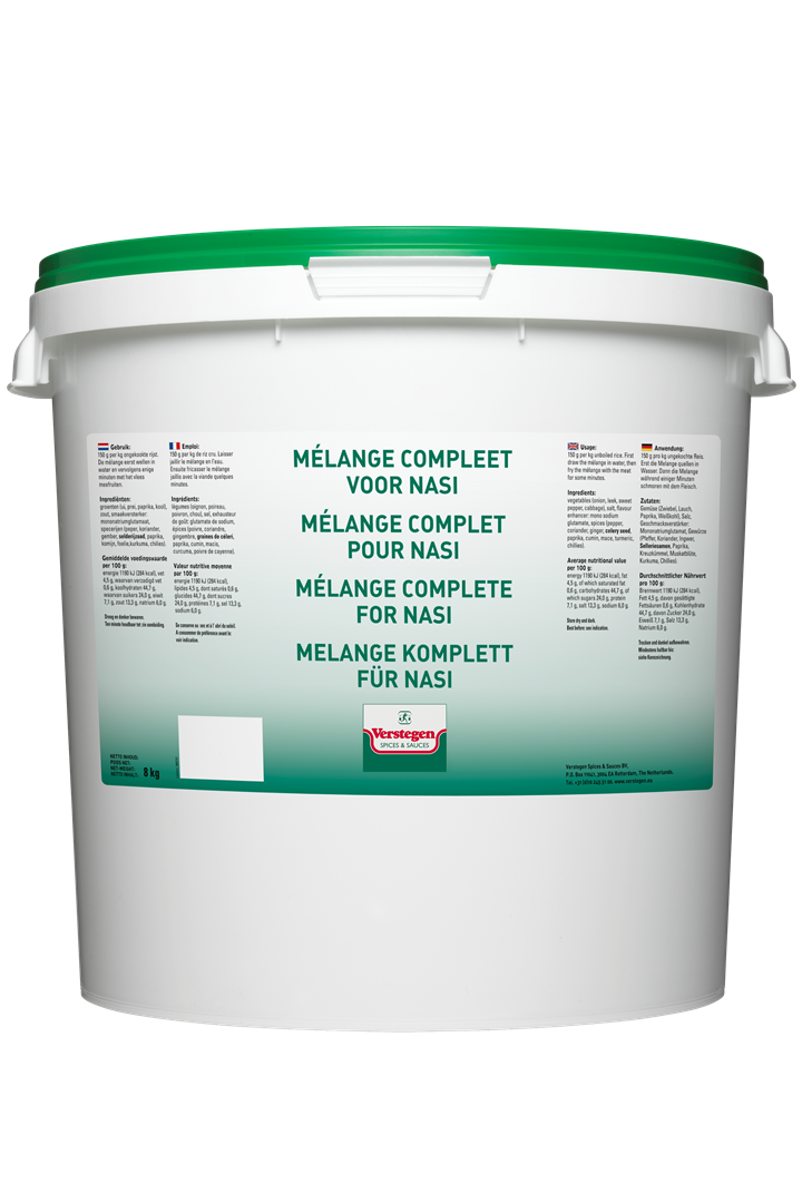 Productafbeelding Verstegen Mélange compleet voor nasi 8 kg emmer