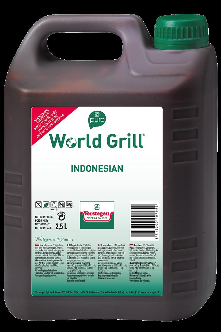 Productafbeelding Verstegen Pure World Grill Indonesian 2,5 LT kan