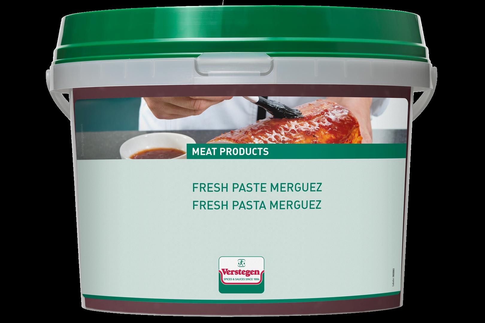 Productafbeelding Verstegen  fresh paste merguez 3200 g emmer