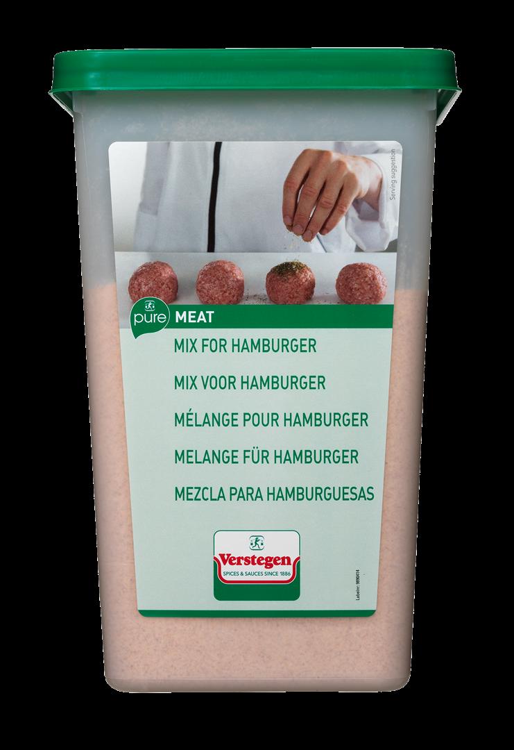 Productafbeelding Verstegen Mix voor hamburger PURE 1500 g kuipje