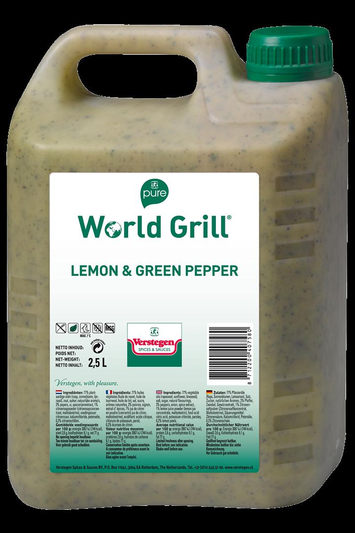 Productafbeelding Verstegen  World Grill lemon & green pepper 2,5 LT kan