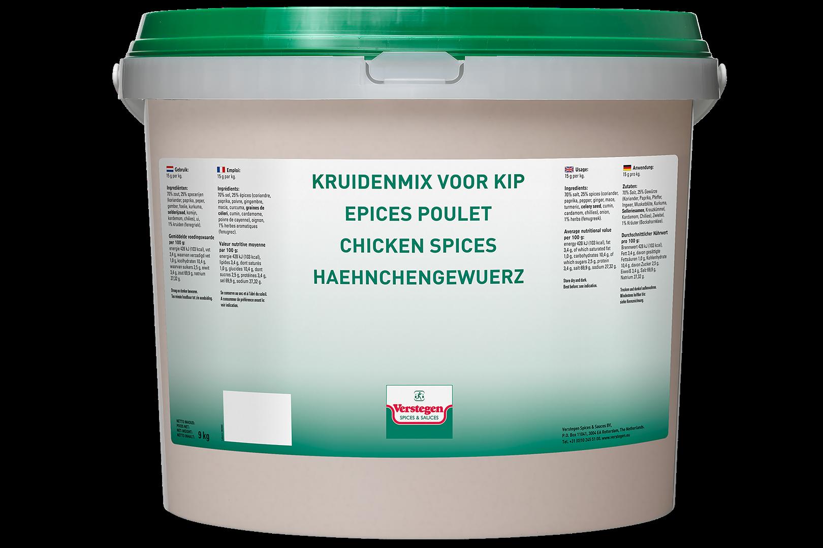 Productafbeelding Verstegen  kruidenmix voor  kip 9000 g emmer