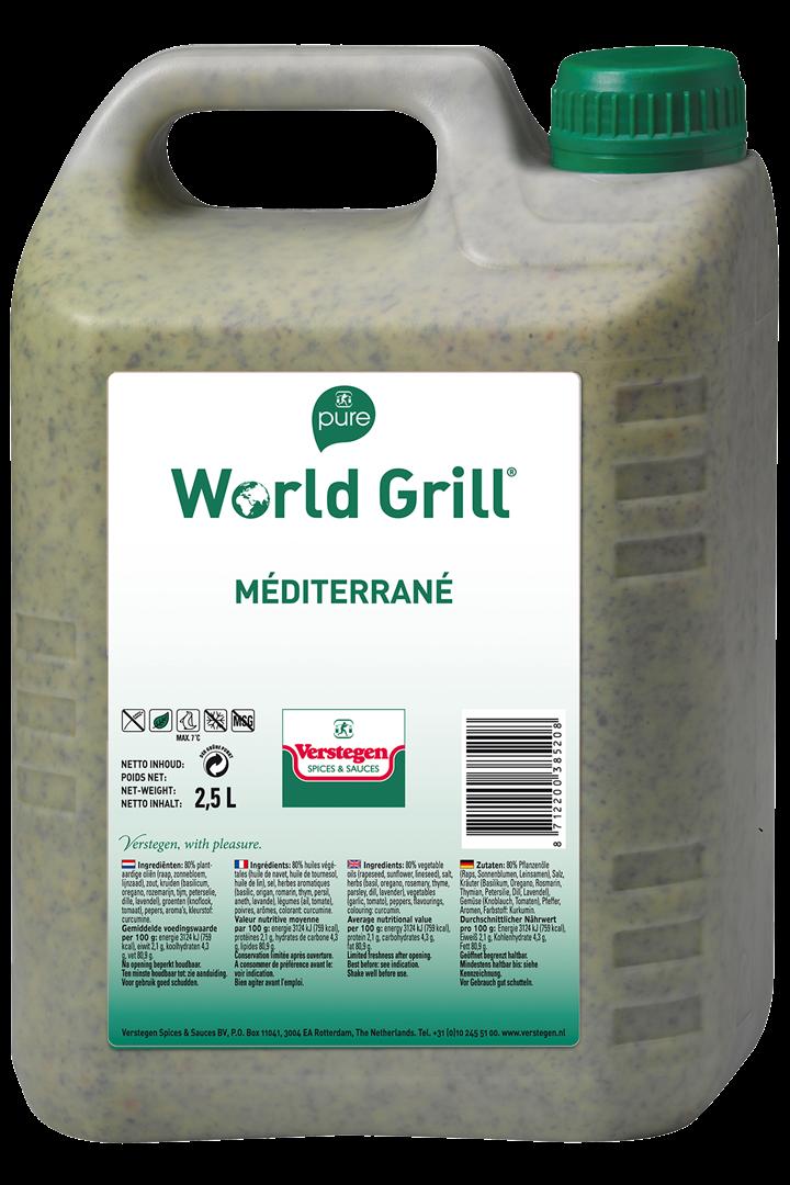 Productafbeelding Verstegen  World Grill Mediterrane 2,5 LT kan