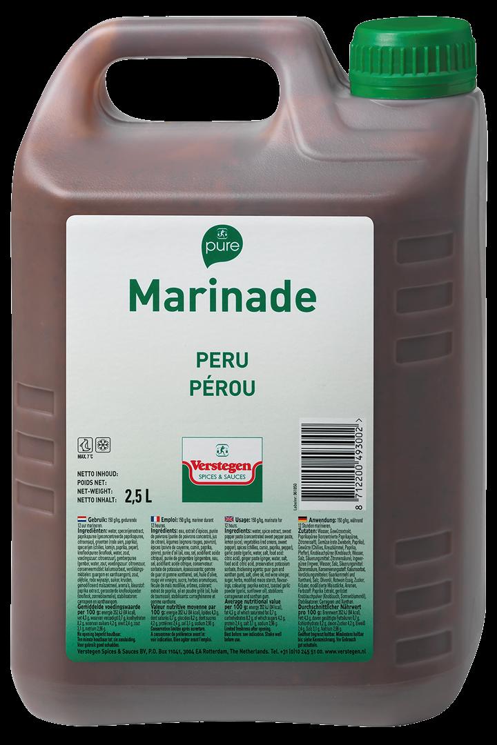 Productafbeelding Verstegen Marinade peru PURE 2,5 L kan