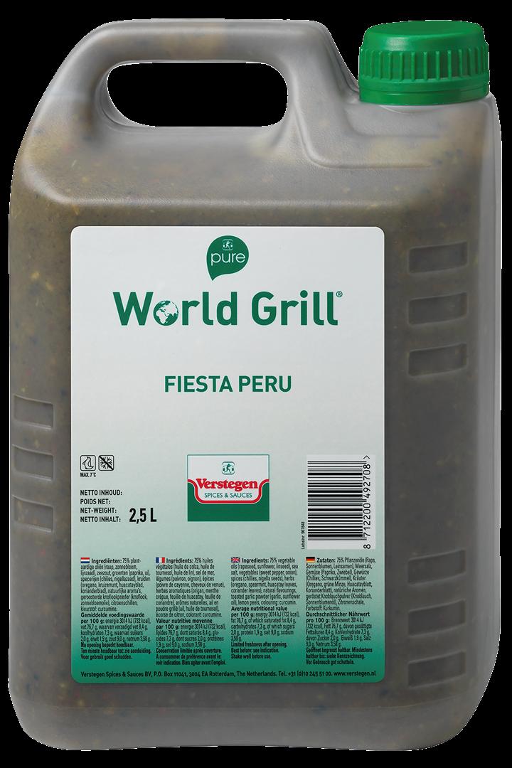 Productafbeelding Verstegen  World Grill Fiesta Peru 2,5 LT kan