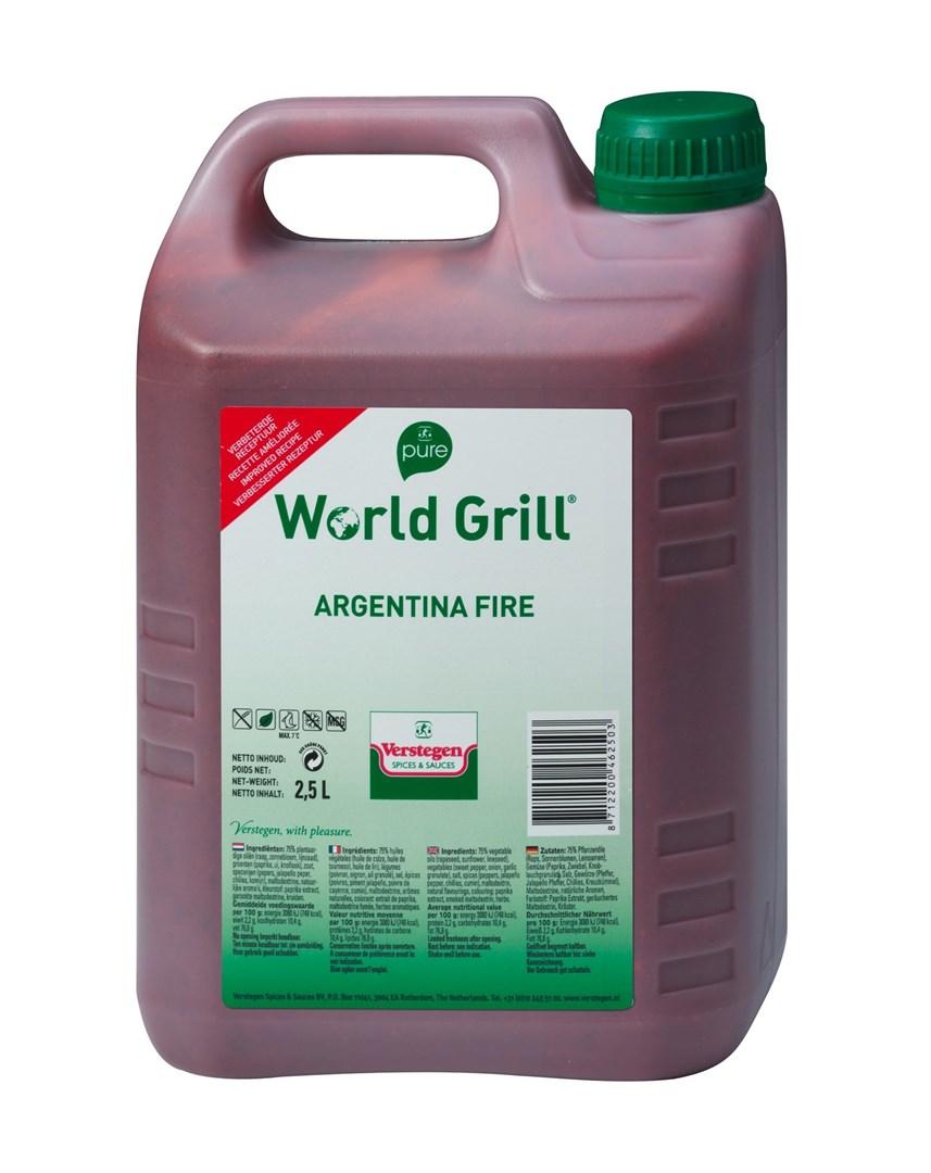 Productafbeelding Verstegen Pure World Grill Argentina Fire 2,5 LT kan