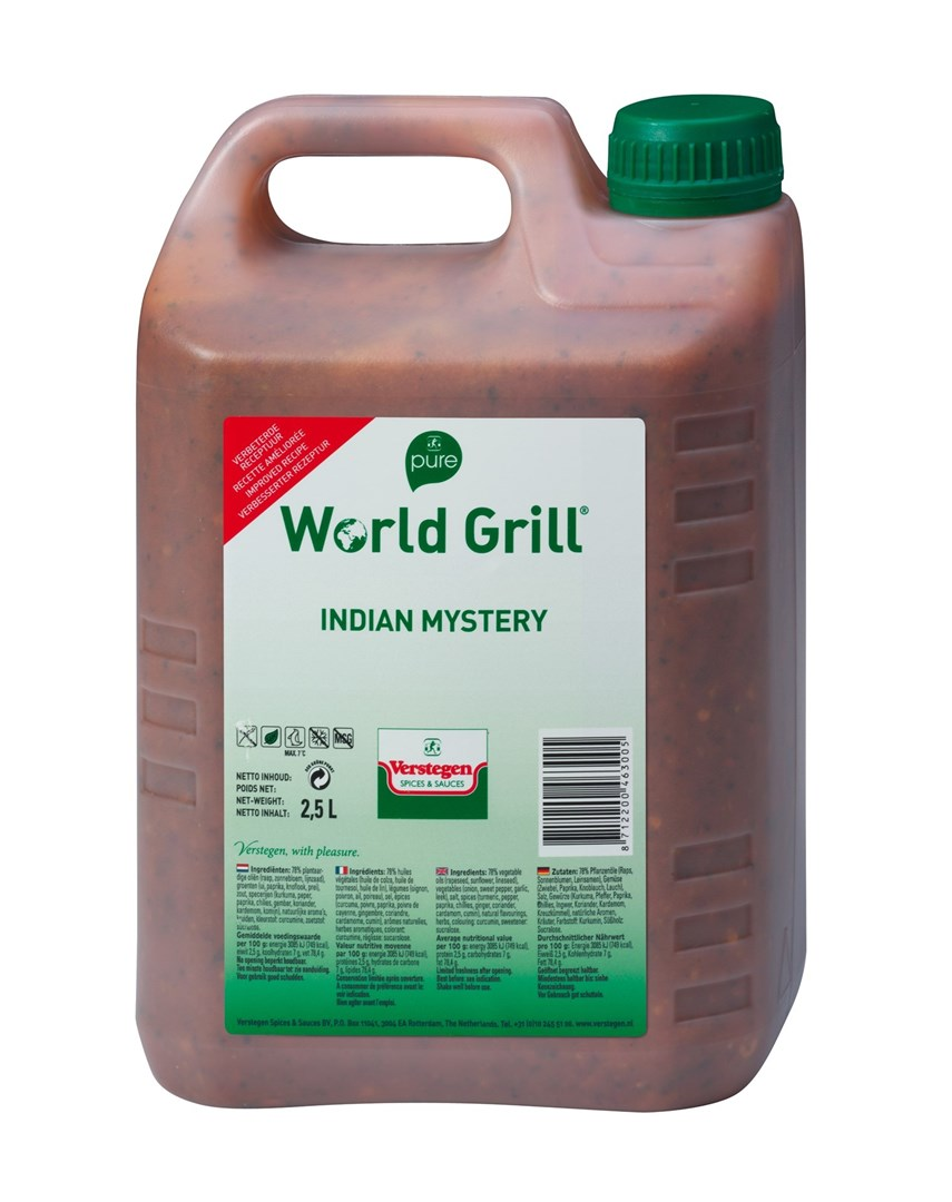 Productafbeelding Verstegen Pure World Grill Indian mystery 2,5 LT kan