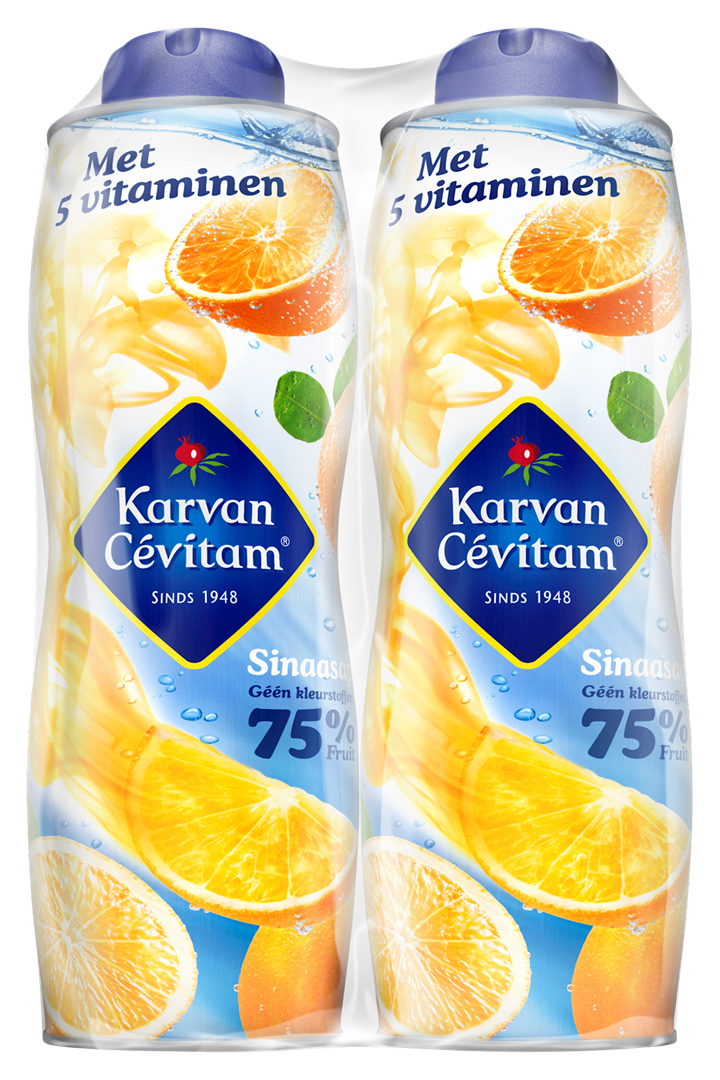 Productafbeelding Karvan Cévitam Vruchtenlimonadesiroop Sinaasappel 2 x 750 ml Blik