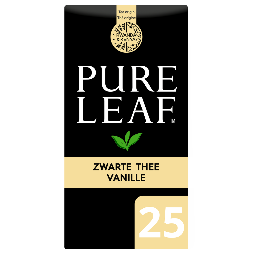 Productafbeelding Pure Leaf Zw Thee Vanil NL-BIO-01 25s 6x