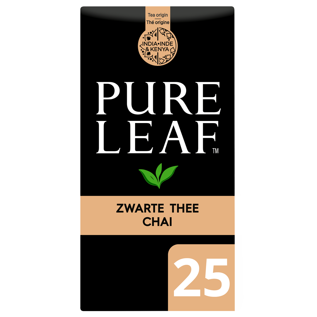 Productafbeelding Pure Leaf Zw Thee Chai NL-BIO-01 25st 6x