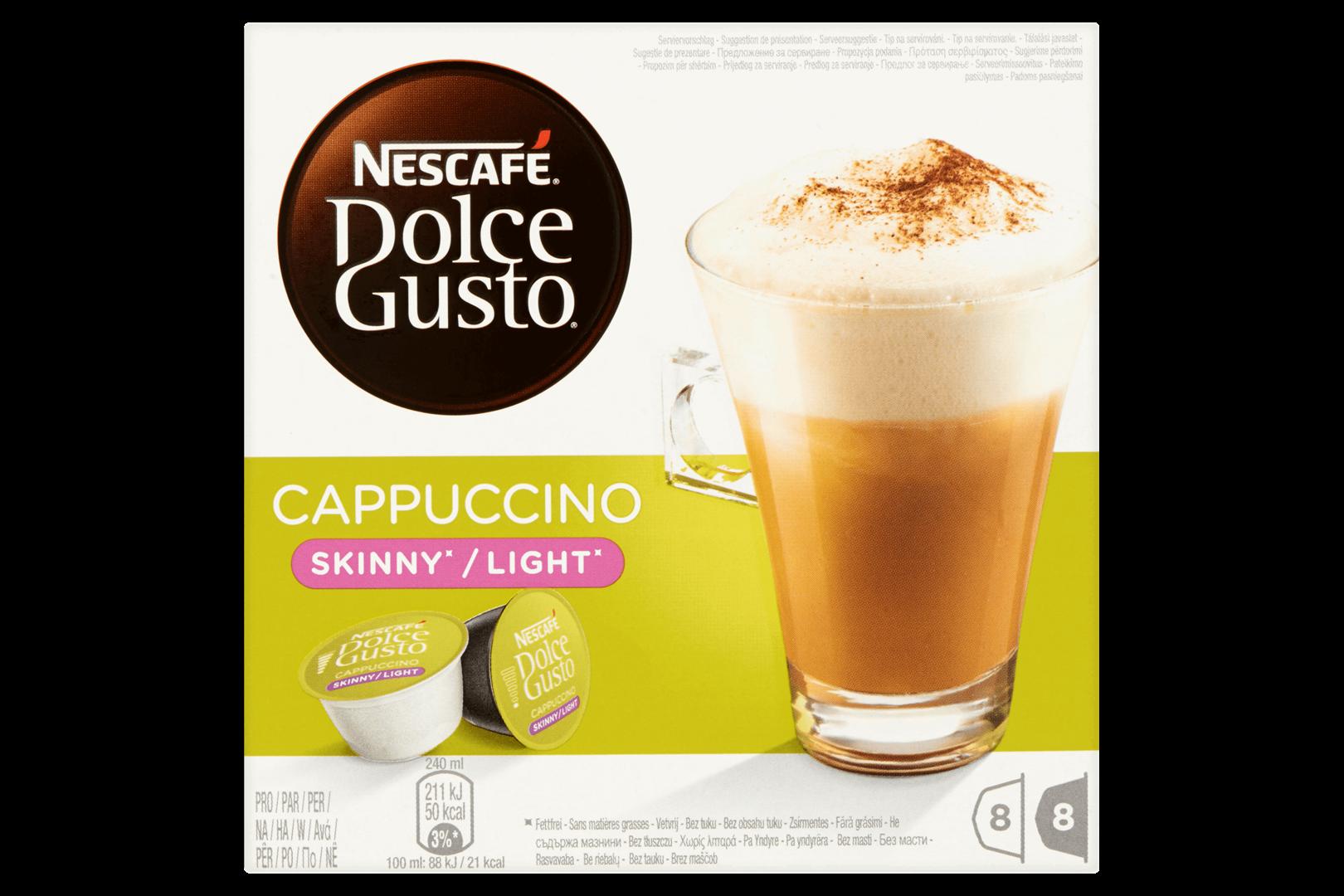 Productafbeelding NESCAFE DOLCE GUSTO Gemalen Koffie Cappuccino ongezoet 161.6 Gram 16 Capsules Doos