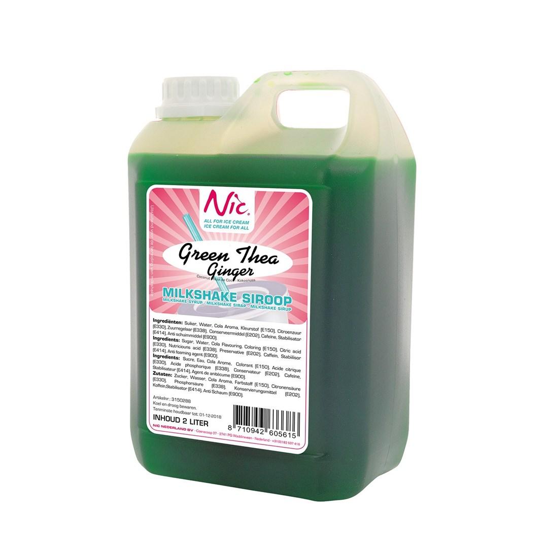 Productafbeelding Green tea ginger  Milkshake Siroop