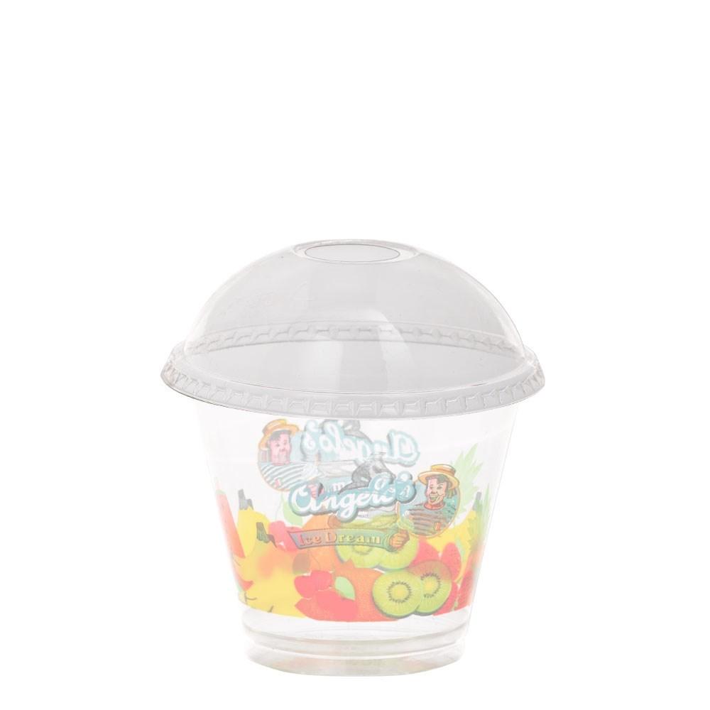 Productafbeelding Deksel Bol met Gat tbv Angelo's Sorbet Beker/Premium Shake