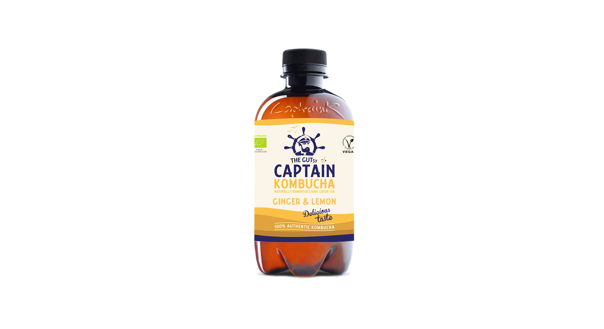 Productafbeelding The Gutsy Captain Kombucha Ginger & lemon 400ml