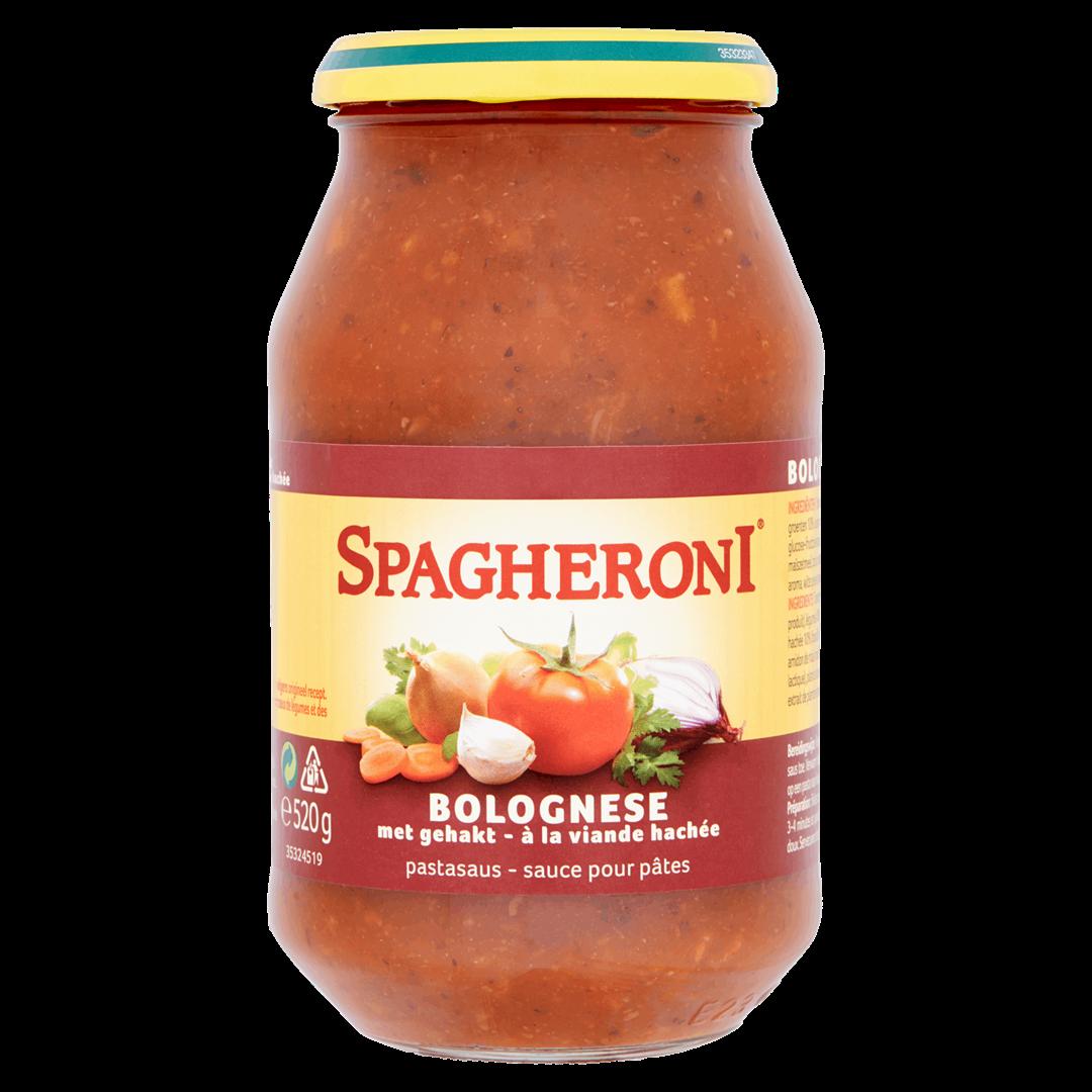 Productafbeelding Heinz Spagheroni Bolognese met Gehakt Pastasaus 520 g Pot