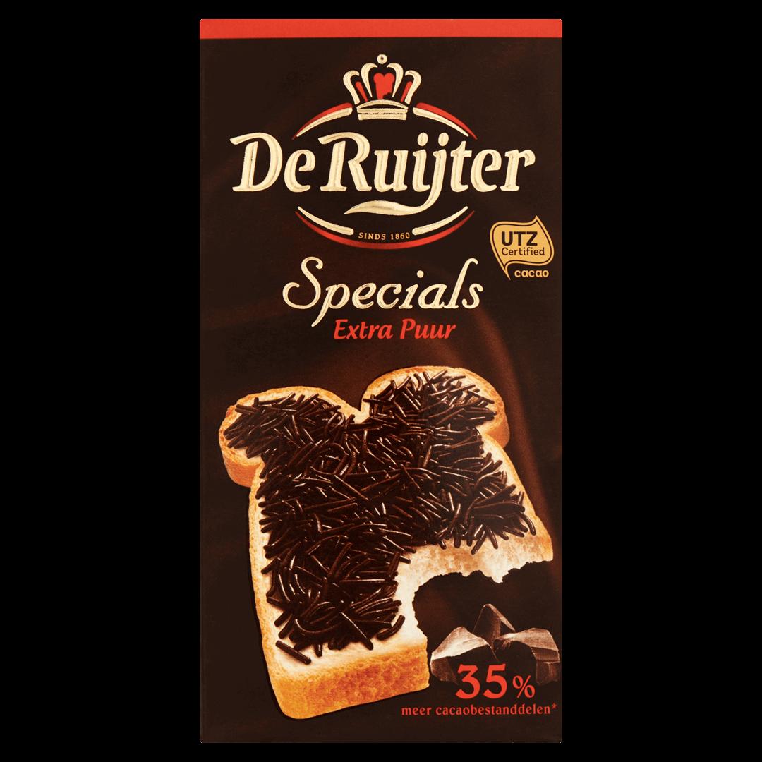 Productafbeelding De Ruijter Chocoladehagelslag Specials Extra Puur 240 g Doos