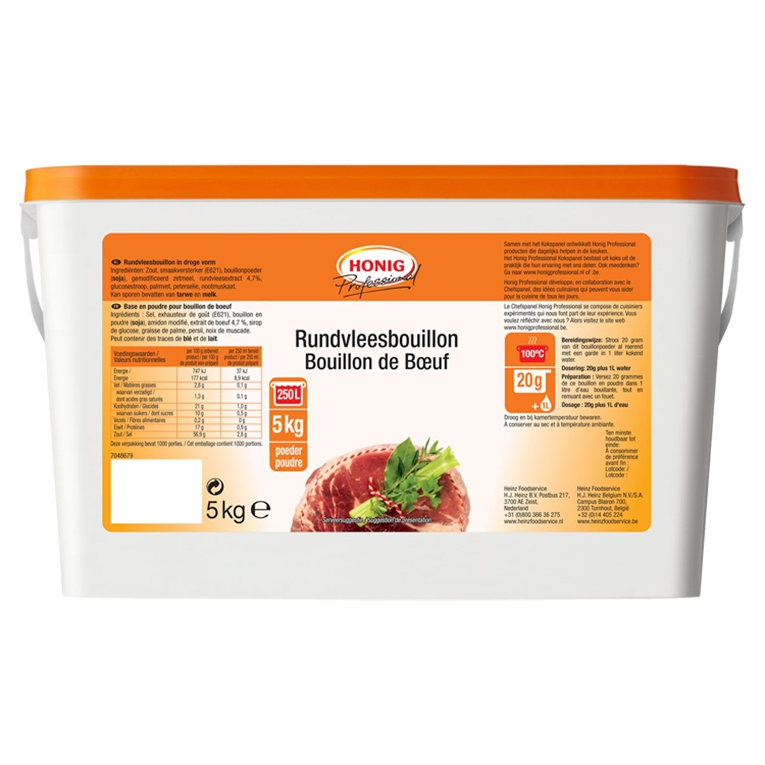Productafbeelding Honig Professional Rundvleesbouillon Poeder 5 kg Emmer