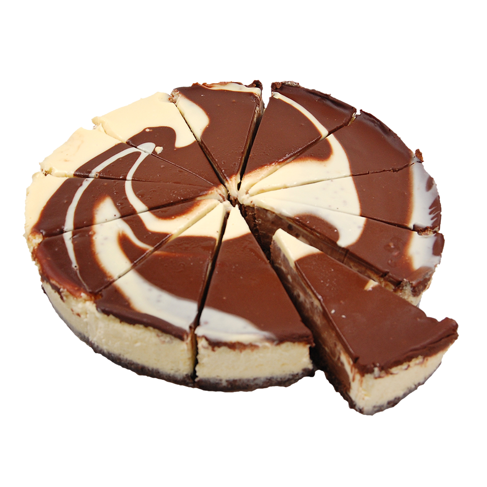 Productafbeelding White & Dark Chocolate Baked Cheesecake 12 punten