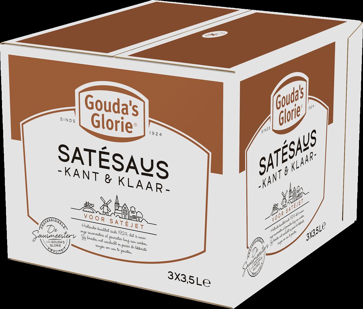 Productafbeelding Gouda's Glorie Satésaus Kant & Klaar   Bag-in-Box 3 x 3,5 L