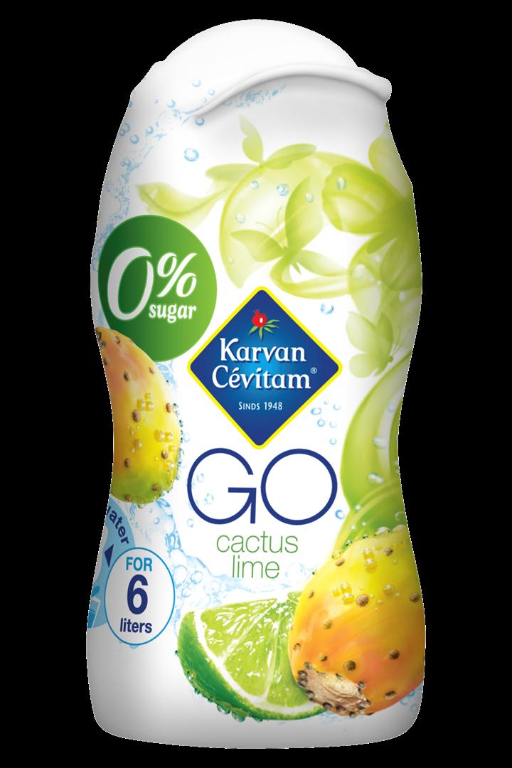 Productafbeelding Karvan Cévitam Limonadesiroop Cactus Lime 0% Sugar 48 ml Fles