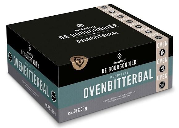 Productafbeelding Kroketterij De Bourgondiër Rundvlees Ovenbitterbal 48 x 35 gram