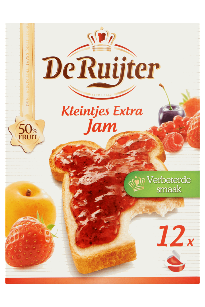 Productafbeelding De Ruijter Jam Kleintjes Extra 300 GRM Doos