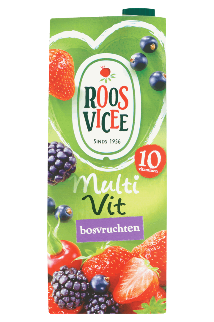 Productafbeelding Roosvicee Fruitdrink Multivit Bosvruchten 1.5 l Pak