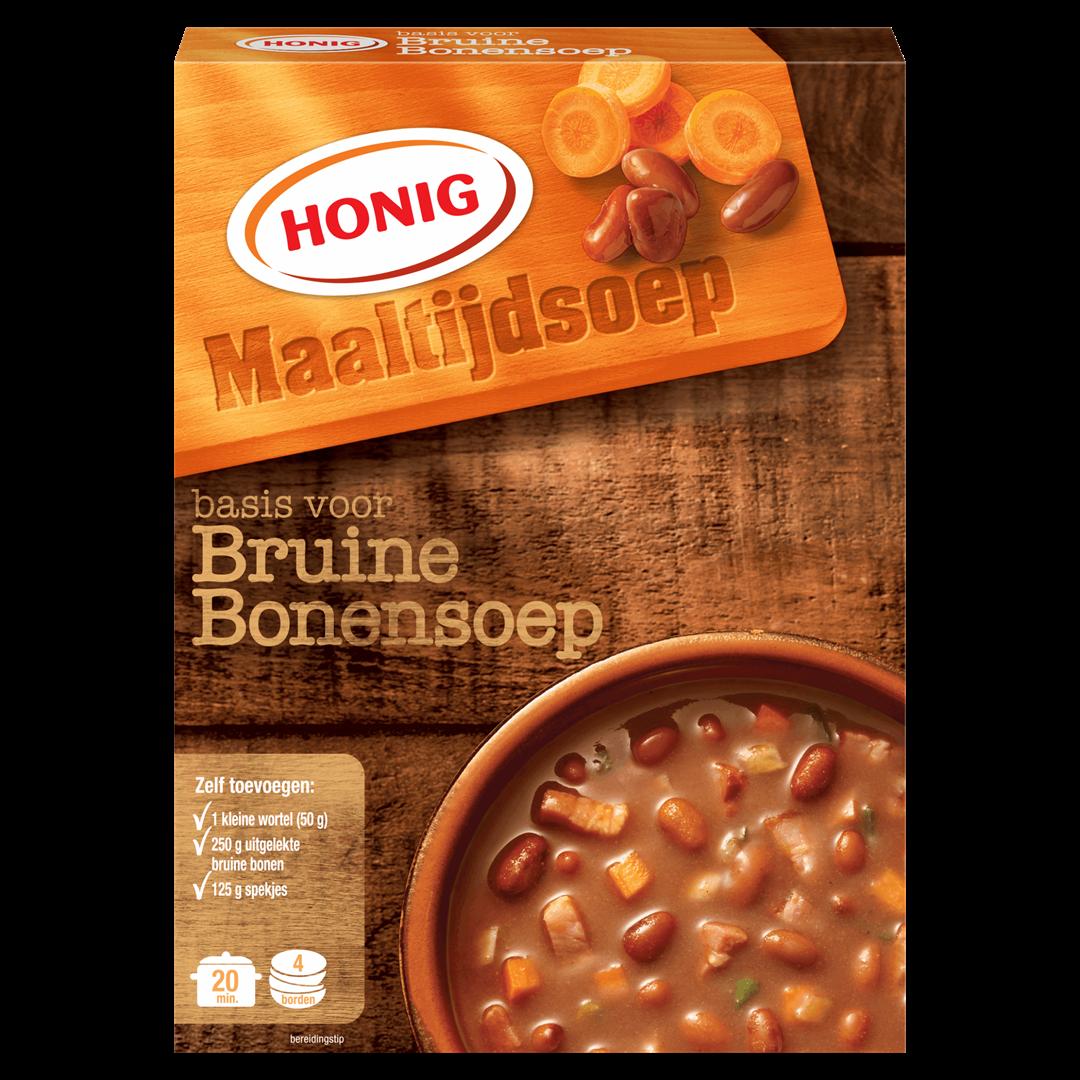 Productafbeelding Honig Soep in Droge Vorm Basis voor Bruine Bonensoep 117 g Doos