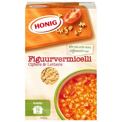 Productafbeelding Honig Droge Deegwaar Figuurvermicelli Cijfers & Letters 275 g Doos