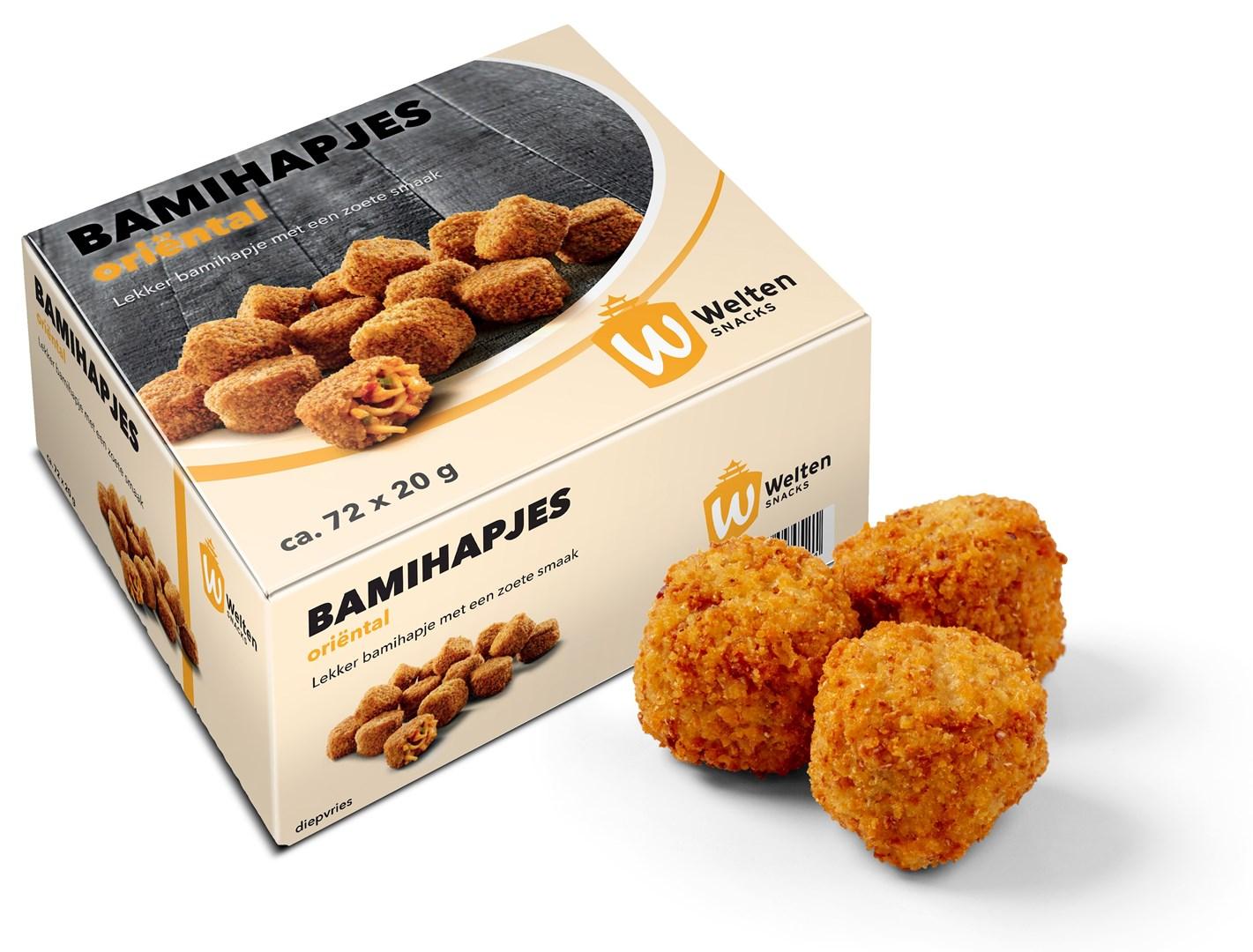Productafbeelding Welten Snacks Bamihapjes Oriëntal 72 x 20 gram