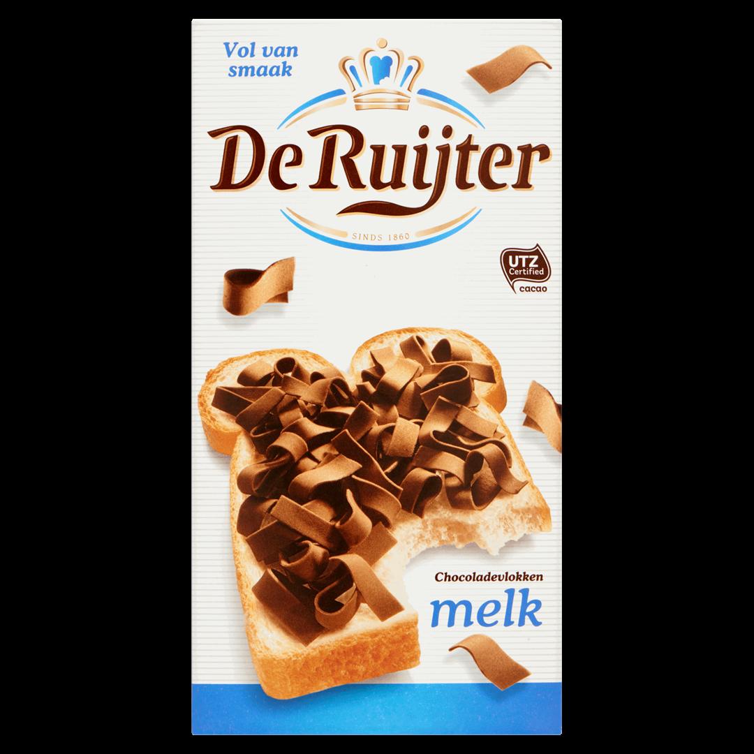 Productafbeelding De Ruijter Melkchocoladevlokken 300 g Doos
