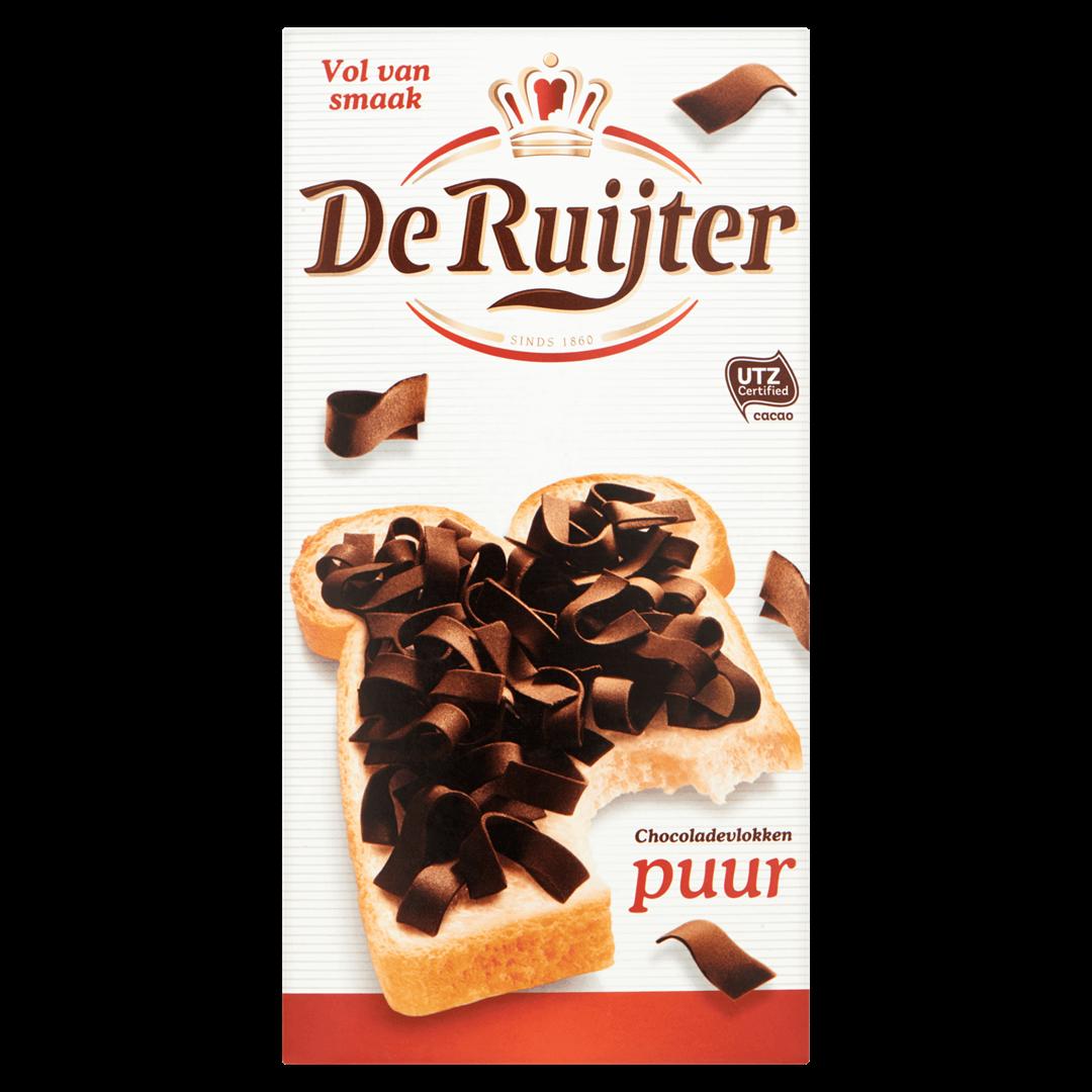 Productafbeelding De Ruijter Chocoladevlokken Puur 300 g Doos