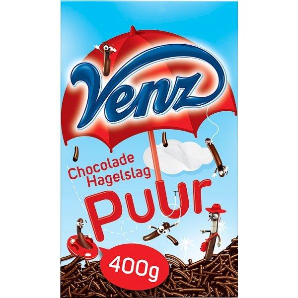 Productafbeelding Venz Chocoladehagelslag Puur 400 g Doos