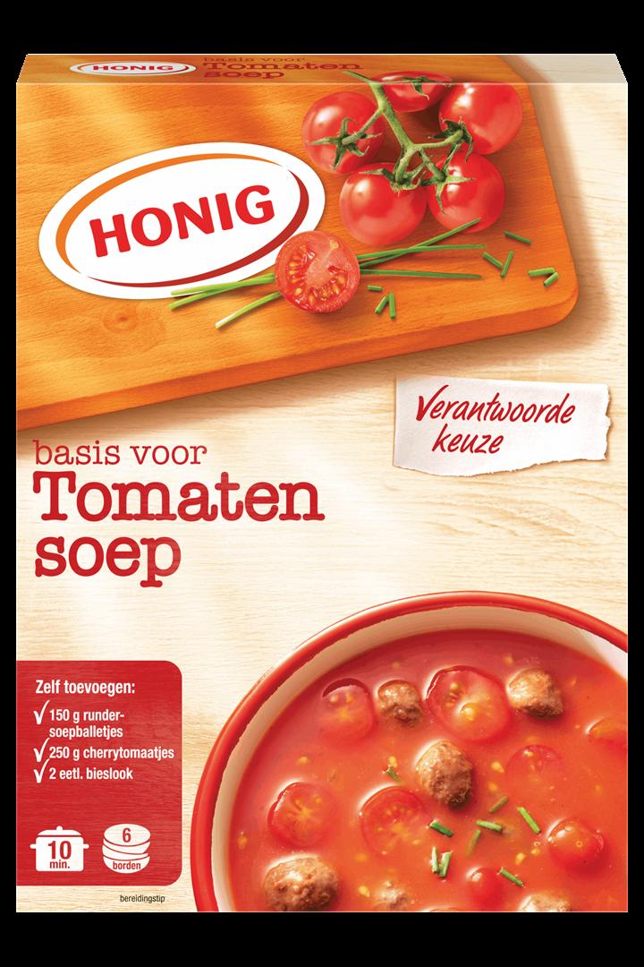 Productafbeelding Honig Soep in Droge Vorm Basis voor Tomatensoep 92 g Doos