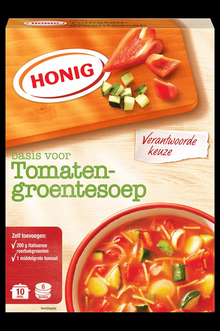Productafbeelding Honig Soep in Droge Vorm Tomaten-Groente 83 g Doos