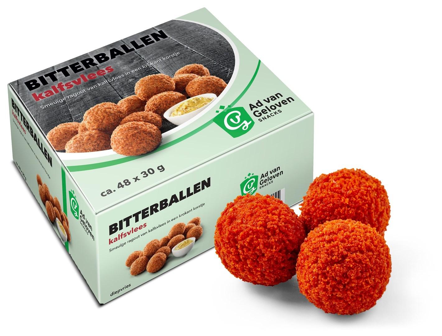 Productafbeelding Ad van Geloven Kalfsvleesbitterballen 48 x 30 gram