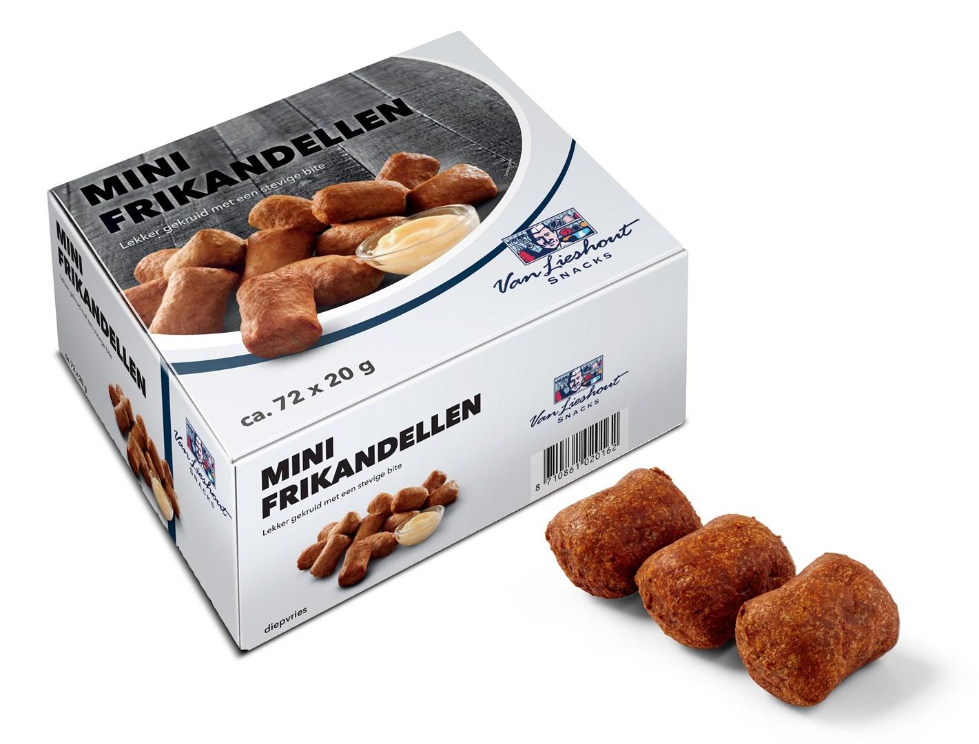 Productafbeelding Van Lieshout Snackwaren Mini Frikandellen 72 x 20 gram