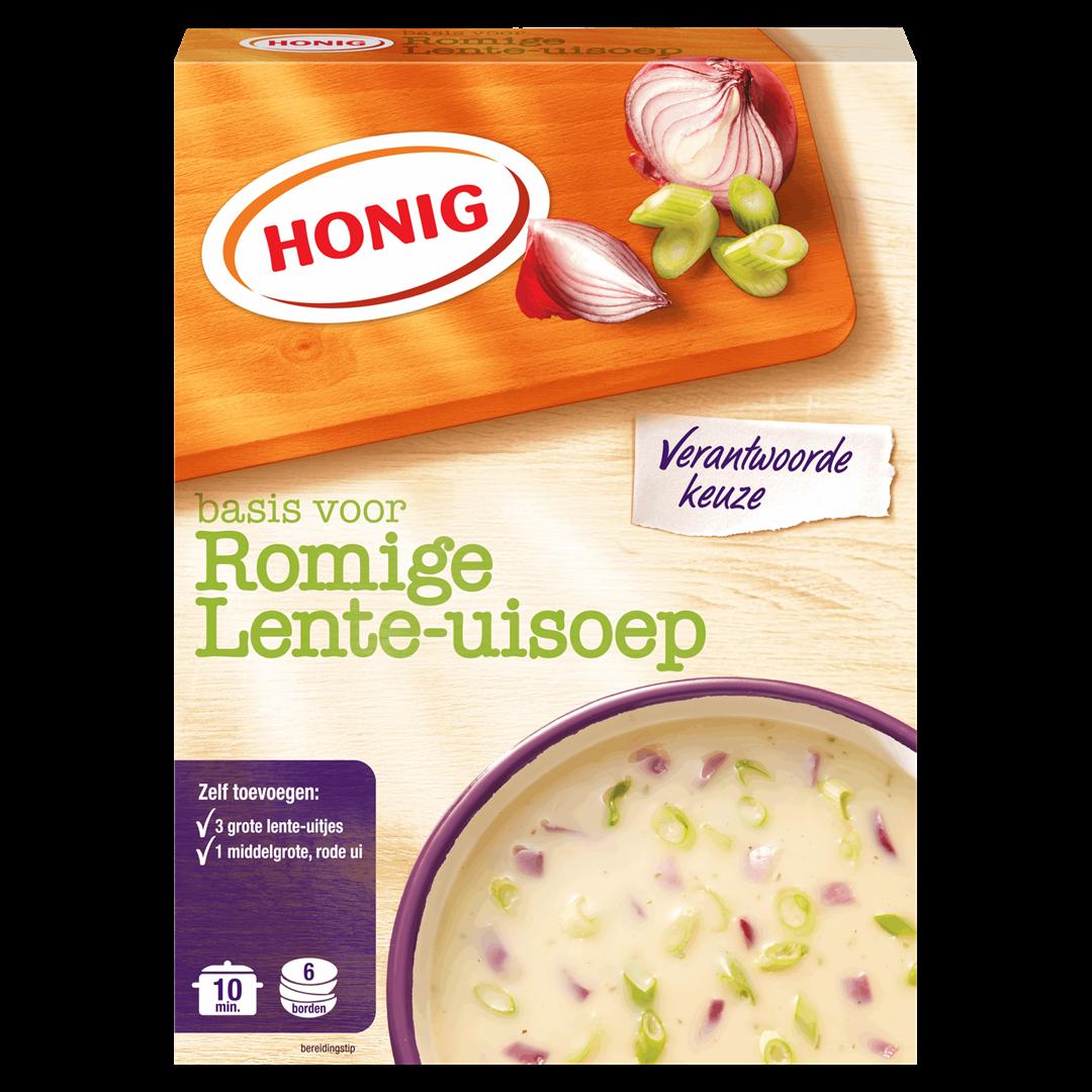 Productafbeelding Honig Soep in Droge Vorm Basis voor Romige Lente-Uisoep 102 g Doos