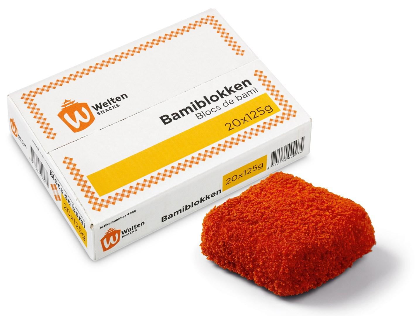 Productafbeelding Welten Snacks Bami Blokken 20 x 125 gram