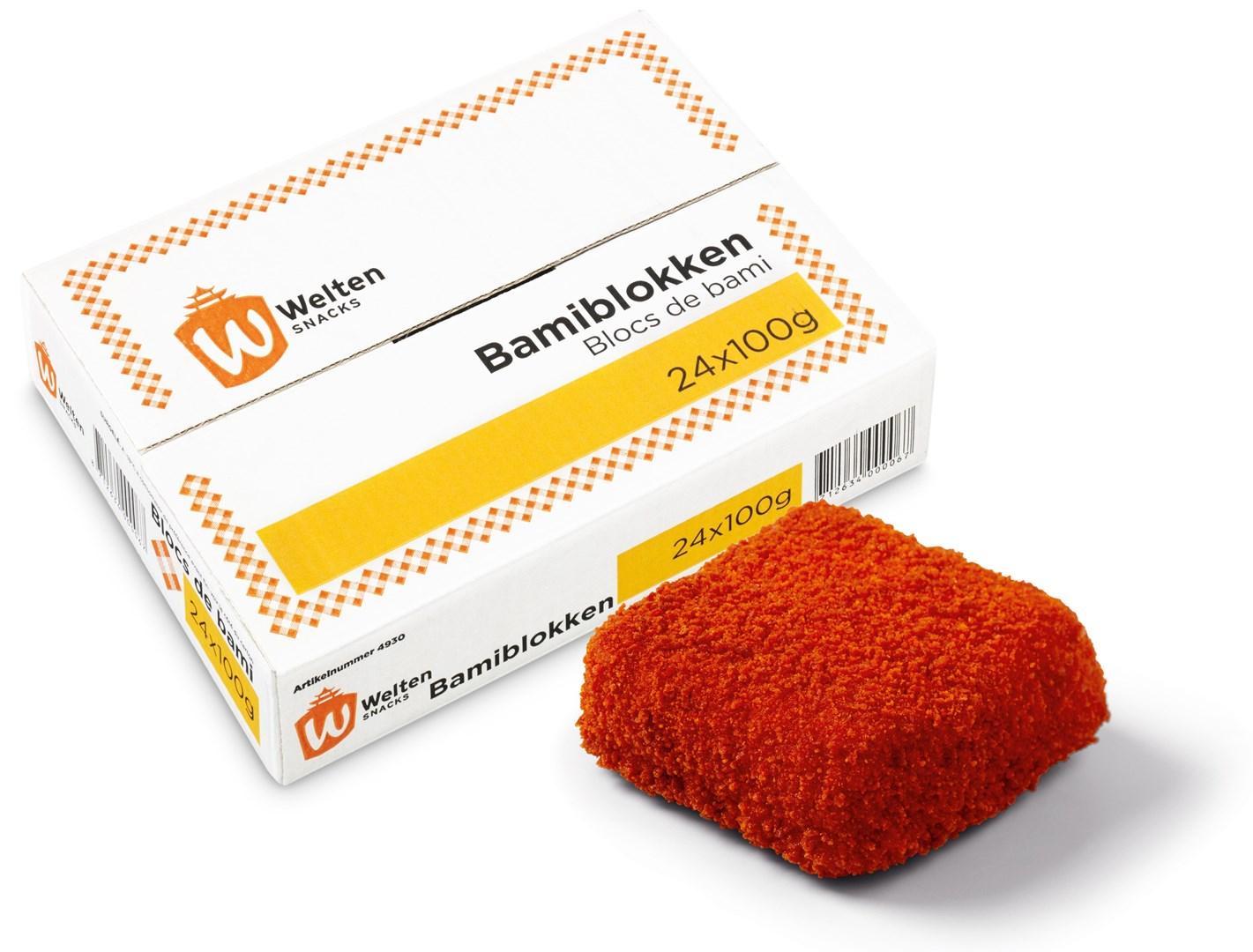 Productafbeelding Welten Snacks Bami Blokken 24 x 100 gram