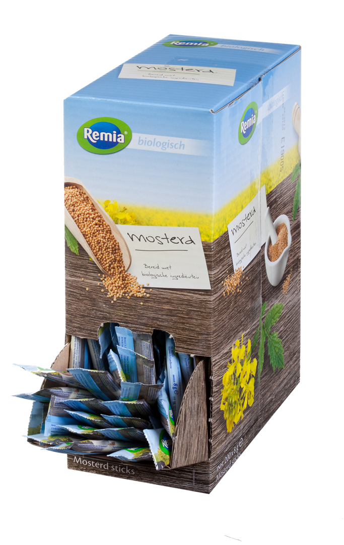 Productafbeelding Remia Biologische Mosterd | Sticks 200 x 8 G