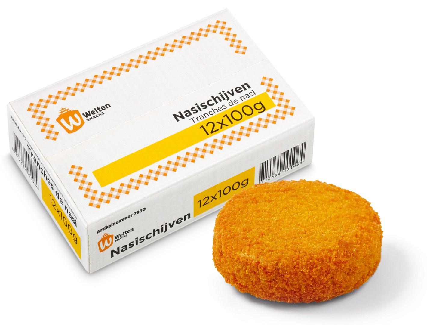Productafbeelding Welten Snacks Nasi Schijven 12 x 100 gram - Dit product is uit ons assortiment