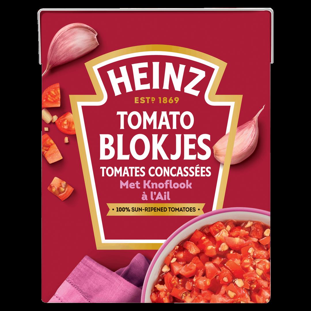 Productafbeelding Heinz Tomatenblokjes met Knoflook 390 g Pak