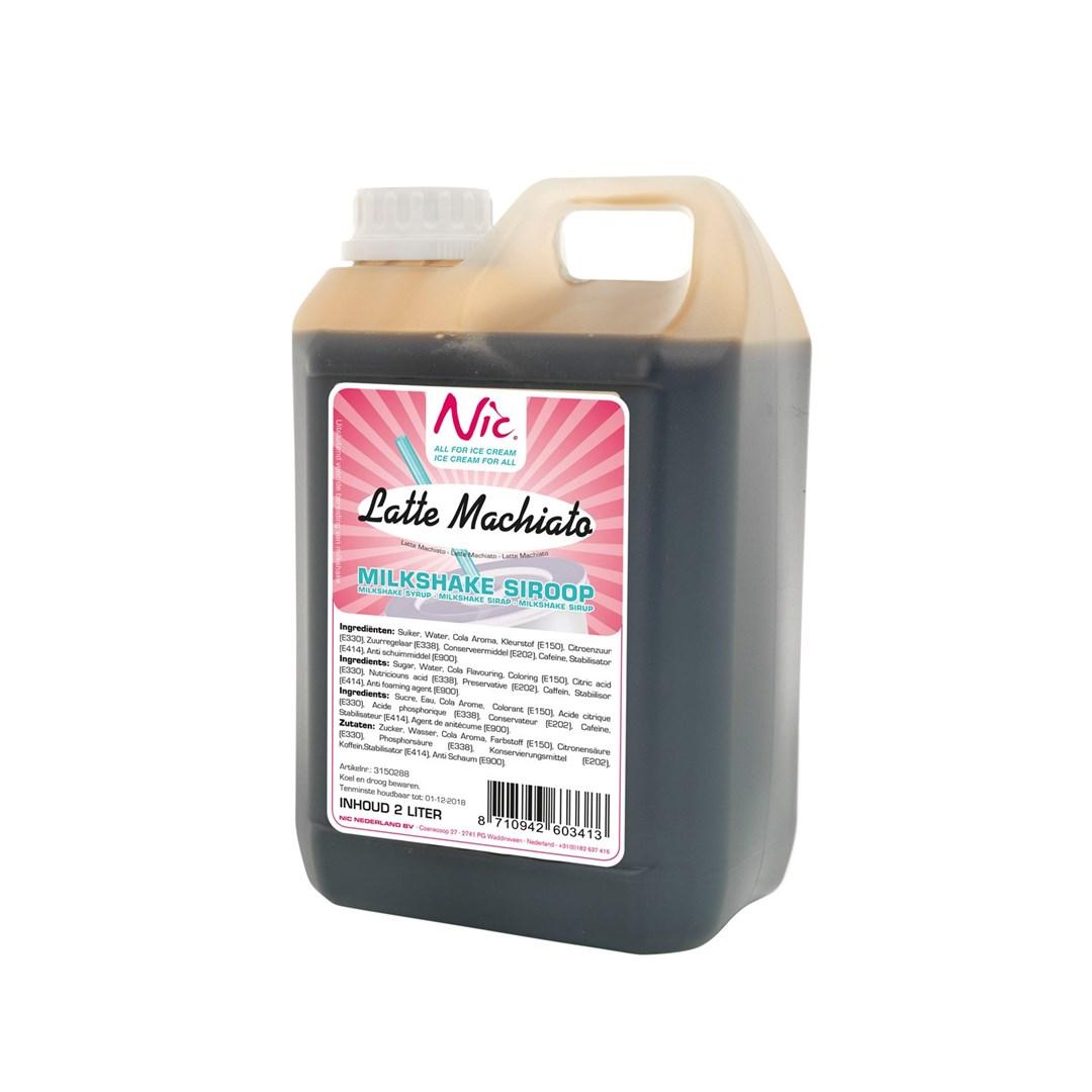 Productafbeelding Milkshakesiroop Latte Machiatto