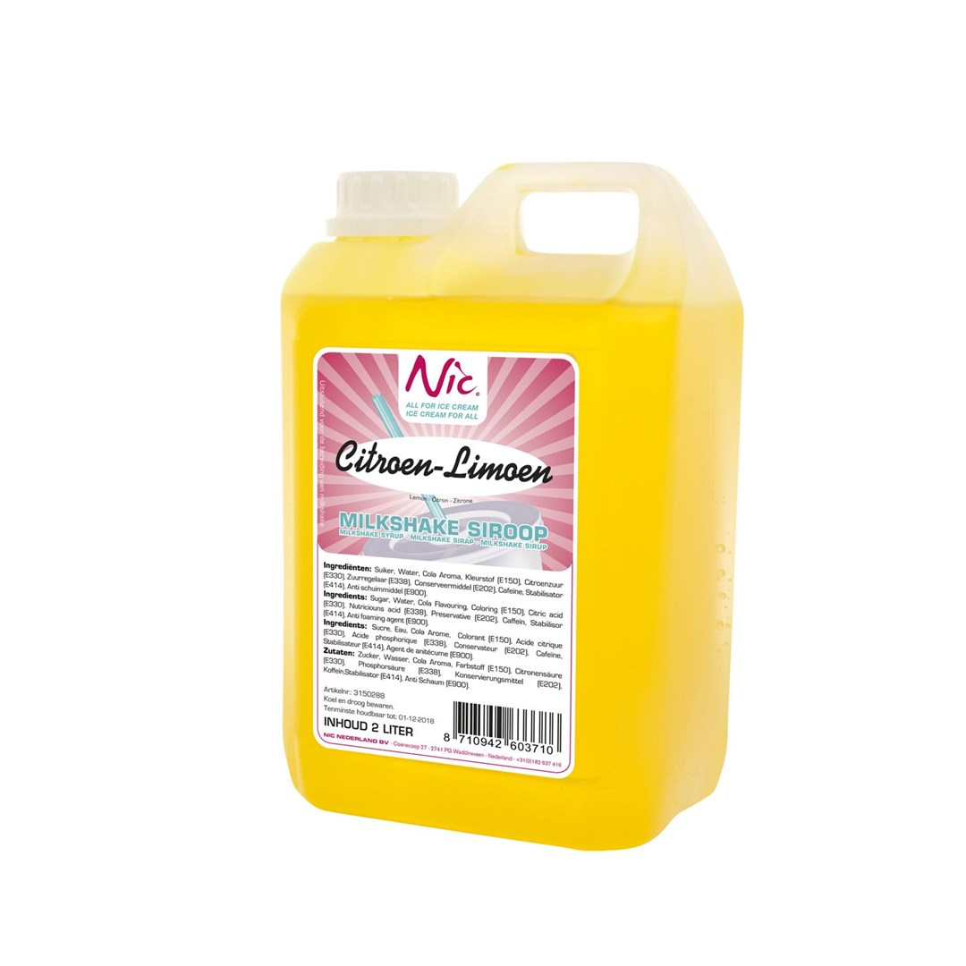 Productafbeelding Citroen-Limoen Milkshake Siroop