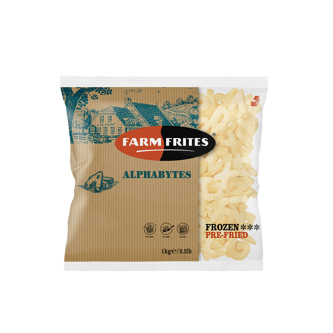 Productafbeelding Farm Frites Frites Alphabytes 1000 gram