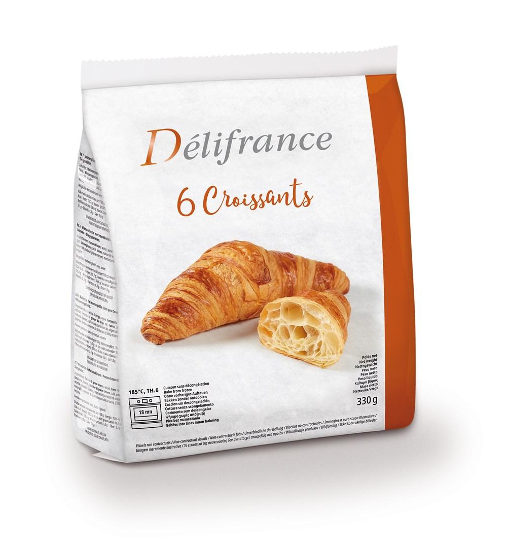 Productafbeelding Délifrance, croissant roomboter (18%) 6 x 55g