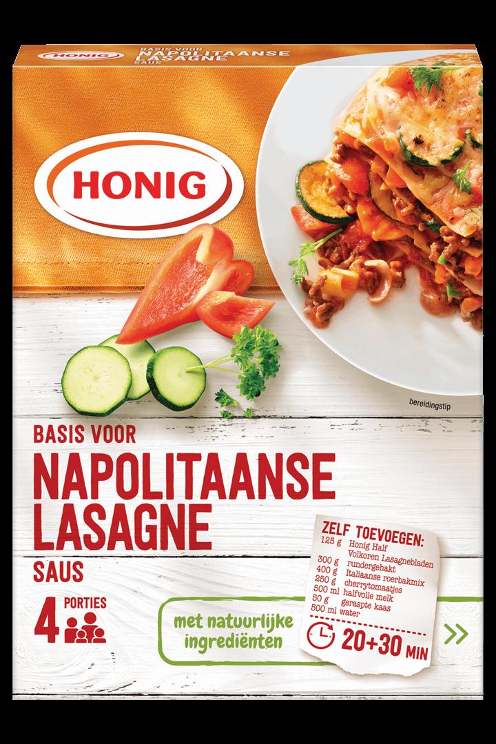 Productafbeelding Honig Mix Basis voor Napolitaanse Lasagne Saus 88 g Doos